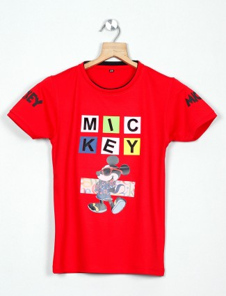 99 Balloon cotton printed t-shirt in red