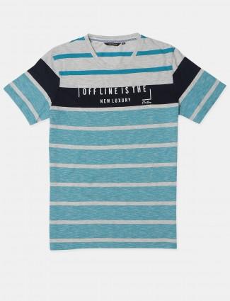 Fritzberg aqua cotton casual t-shirt for mens