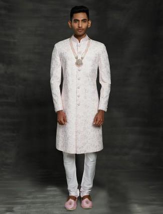 A royal pink sherwani for groom