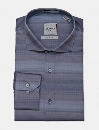 Albino blue stripe cotton mens shirt
