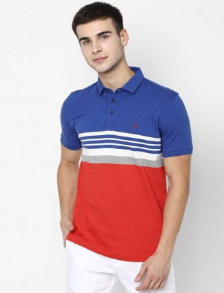 Allen Solly blue and red casual t-shirt