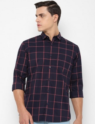 Allen Solly checks design navy shirt