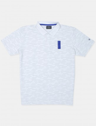 Allen solly pearl blue solid style cotton t-shirt