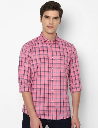 Allen Solly pink cotton casual shirt for men
