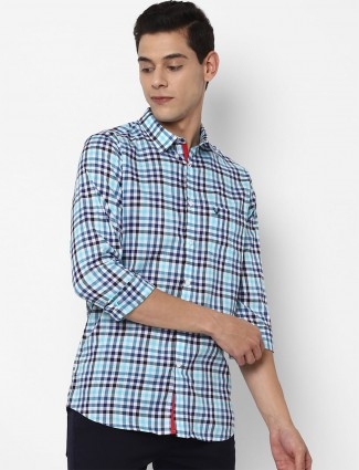 Allen Solly presented cotton casual shirt in blue tint