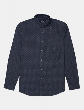 Allen Solly printed navy shirt for mens