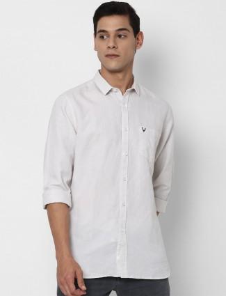 Allen Solly white solid shirt for men