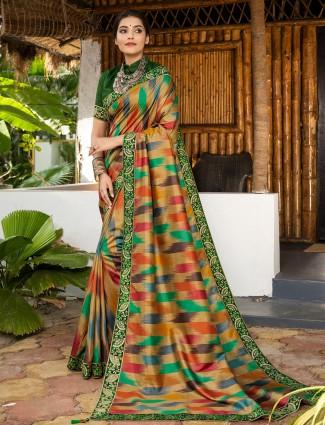 Alluring beige wedding sessions saree in silk