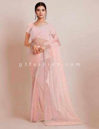 Alluring wedding wear saree in tissue silk