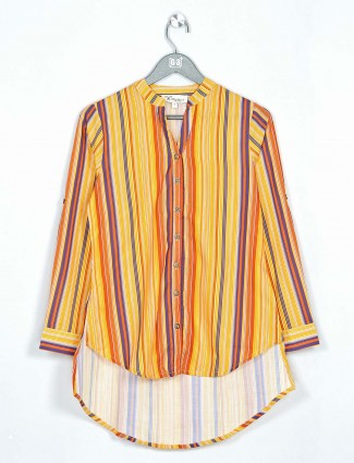 Amazing yellow cotton casual wear top
