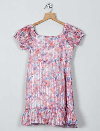 AND printed multi color cotton dress