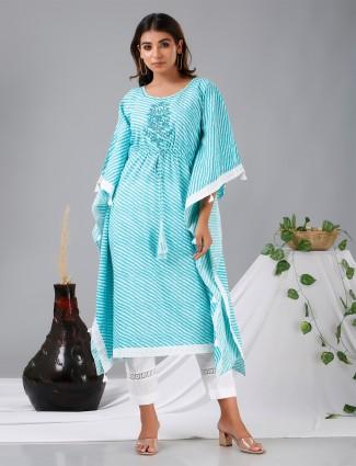 Aqua designer cotton punjabi kaftan style festive functions pant suit
