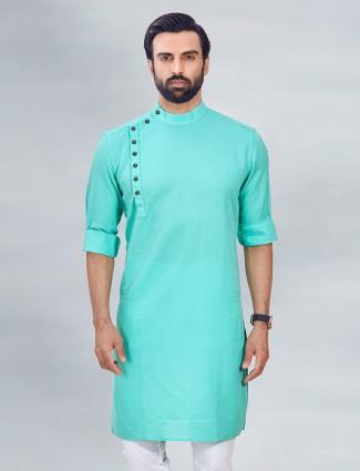Aqua tint festive wear men kurta