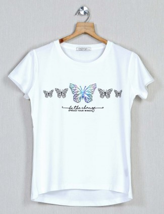 Astron white top for women in cotton