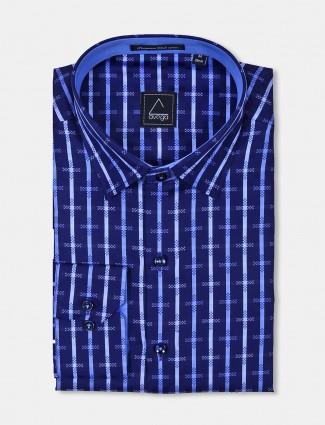 Avega checks pattern blue hue shirt
