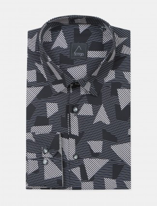 Avega presented printed style men formal shirt