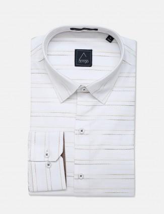 Avega presented white cotton printed shirt