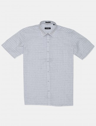 Avega white checks linen shirt