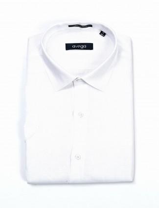 Avega white linen formal wear shirt
