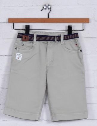 Bad Boys beige slim fit solid short