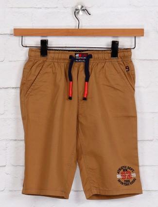 Bad Boys brown solid boys short