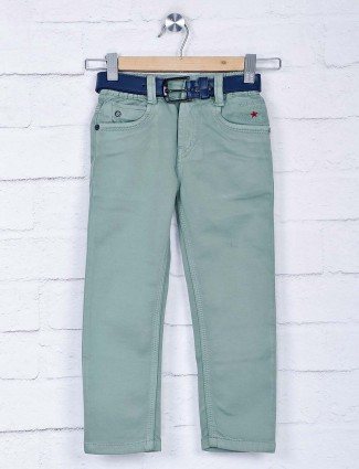 Bad Boys mint green solid casual jeans