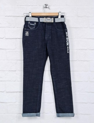 Bad Boys navy solid boys jeans