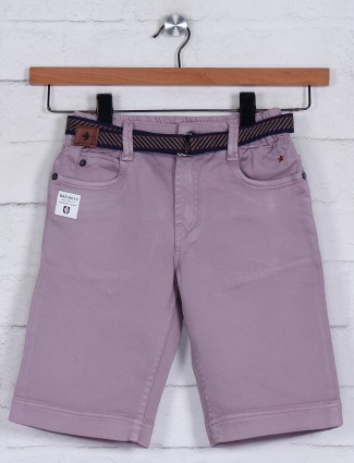 Bad Boys solid dusty pink short in cotton
