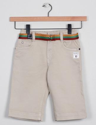 Badboys presented cream tint boys casual shorts
