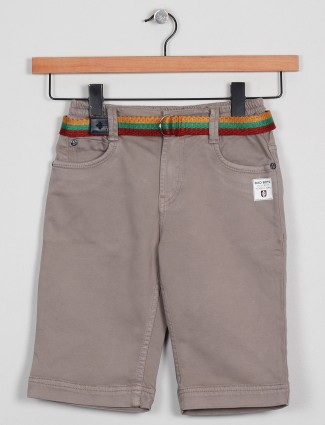 Badboys solid style beige hue shorts