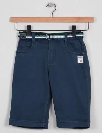 Badboys solid style blue hue shorts