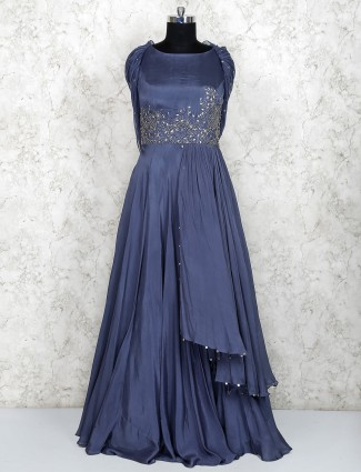 Beautiful gown in grey color