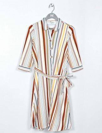 Beautiful white cotton causal wear dress