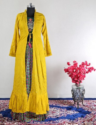 Beautiful yellow georgette salwar kameez