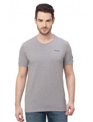 Being human grey stripe cotton t-shirt