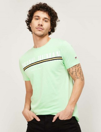 Being Human presented pista green t-shirt in cotton