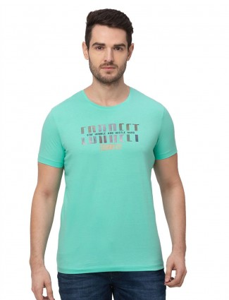 Being human printed aqua t-shirt