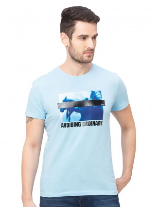 Being human printed blue cotton t-shirt