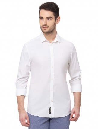 Being Human slim fit solid white shirt