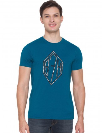 Being Human solid style teal blue t-shirt