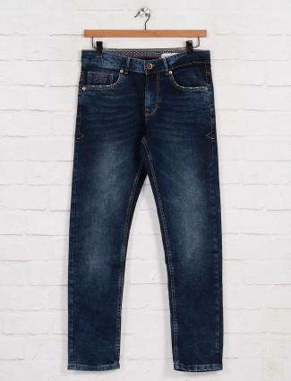 Being Human washed dark blue slim fit jeans