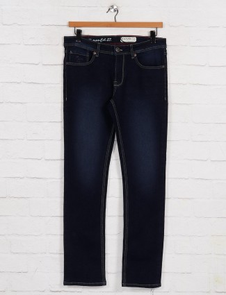 Being Human washed navy mens jeans