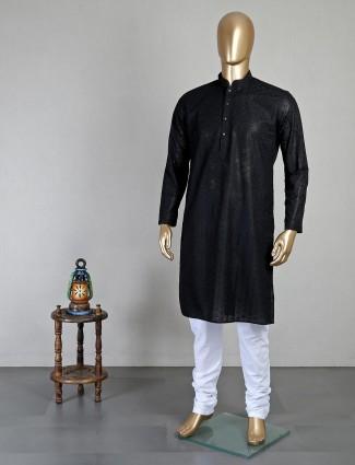 Black georgette kurta suit