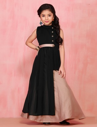 Black georgette lehenga choli for girls
