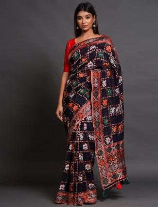Black georgetteparty wear saree