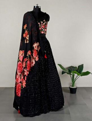 Black hue wedding lehenga choli