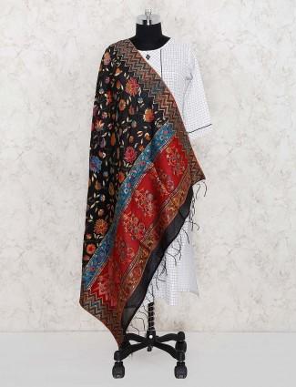 Black hue wonderful pashmina silk dupatta