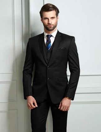 Black terry rayon coat suit for party function