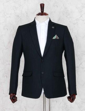 Black terry rayon party wear blazer
