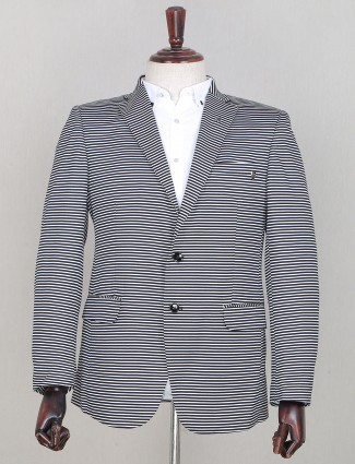 Black two-buttoned style mens party wear blazer